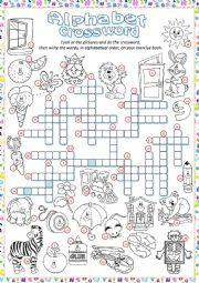 ** Alphabet Crossword  **