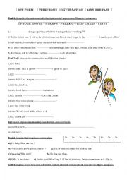 English Worksheet: preparing for the trip/ telephone conversation
