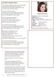 English Worksheet: Fire & Rain