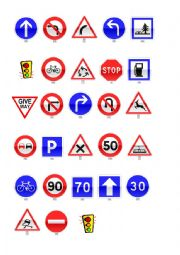English Worksheet: worksheet traffic signs
