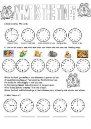 English Worksheet: Clock time
