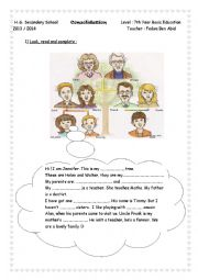 English Worksheet: Tell me more about your family: Consolidation and review