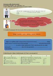 English Worksheet: lesson 4 9th form pocket money
