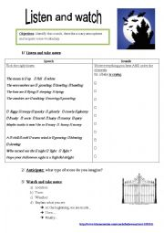 English Worksheet: Hallowe�en atmosphere