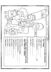 English Worksheet: The Simpson Family