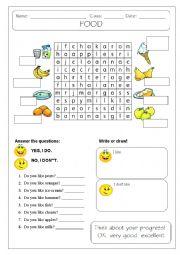 English Worksheet: FOOD, DO YOU LIKE?