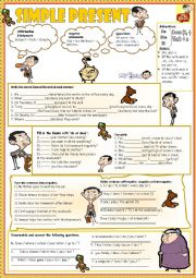 English Worksheet: Learning *Present Simple* with Mr. Bean