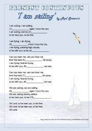 English Worksheet: I am sailing by Rod Stewart - Listening activity and grammar