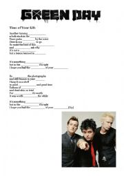 English Worksheet: Time of your life (Green Day)