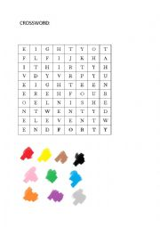 Crossword numbers and colors