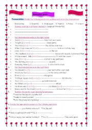 English Worksheet: Remedial work for tunisian 8th formers