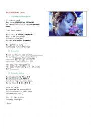 English Worksheet: The Climb (Miley Cyrus