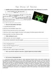 English Worksheet: Toy Story of Terror Movie Acticity FOR ADULTS