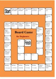 A Boardgame for Beginners