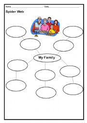 English Worksheet: Brainstorming ideas-My Family