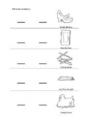 picture regarding One Two Buckle My Shoe Printable identified as A person 2 Buckle My Shoe Worksheet - ESL worksheet as a result of dogsites