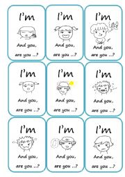 English worksheets speaking cards worksheets page 32 for How do you play go fish card game