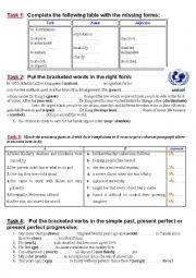 English Worksheet: review module 2 (3rd form)