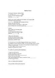 English Worksheet: Zac Brown Band: Chicken Fried Worksheet