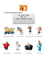 English Worksheet: Despicable me 2 - Movie Activity Part 1