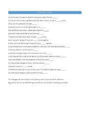 English Worksheet: Idioms about Money
