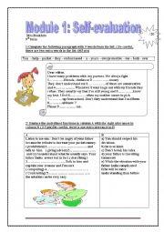 English Worksheet: Module 1 self evaluation