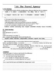 English Worksheet: At the travel Agency