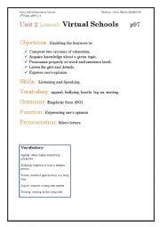 English Worksheet: Virtual Schools 4th form Arts