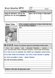 English Worksheet: Brain Booster #79