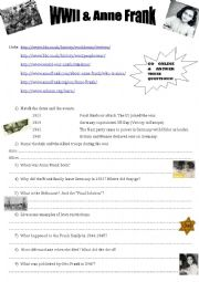 Webquest -WWII & Anne Frank