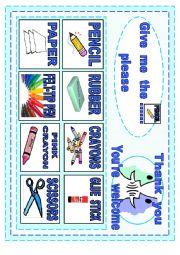 English Worksheet: CLASSROOM POSTER SPEAKING