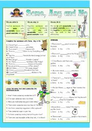 English Worksheet: Some, Any and No - Practice