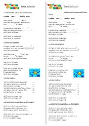 English Worksheet: Don´t worry! Be happy!