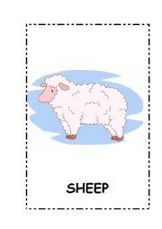 English Worksheet: Farm Animals flashcards.10 flashcards.fully editable