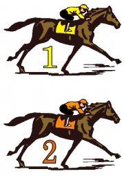 English Worksheet: Horse Racing Game