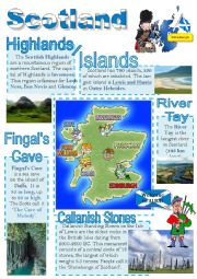 English Worksheet: Scotland - info poster for young learners 4