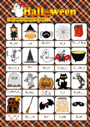 English Worksheet: Halloween - vocabulary