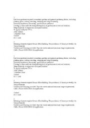 English Worksheet: Job interviews - ads