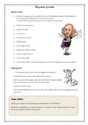 english worksheets introduction to shakespeare. Black Bedroom Furniture Sets. Home Design Ideas