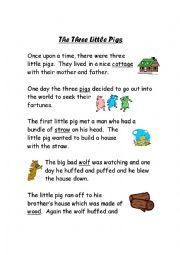 Gorgeous image throughout three little pigs story printable