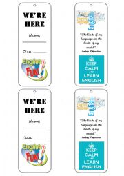 English Worksheet: Bookmark for student´s book