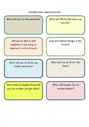 24 Conversation cards with