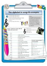 Alphabet in songs and acronyms