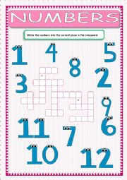 Numbers Crossword