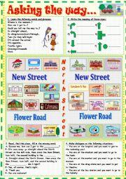 English Worksheet: Asking the way...