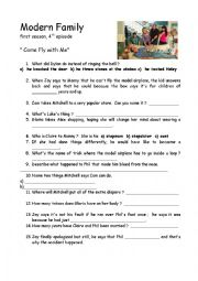 English Worksheet: Modern Family- 4th episode