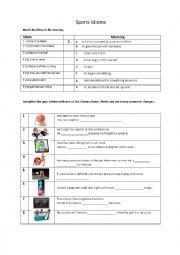 english worksheets idioms worksheets page 43. Black Bedroom Furniture Sets. Home Design Ideas