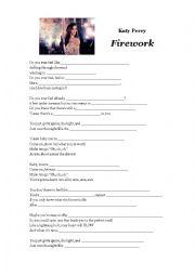 english worksheets firework kate perry. Black Bedroom Furniture Sets. Home Design Ideas