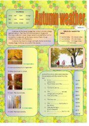 English Worksheet: Autumn weather