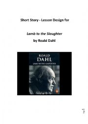 short story worksheets for lamb to the slaughter by roald dahl